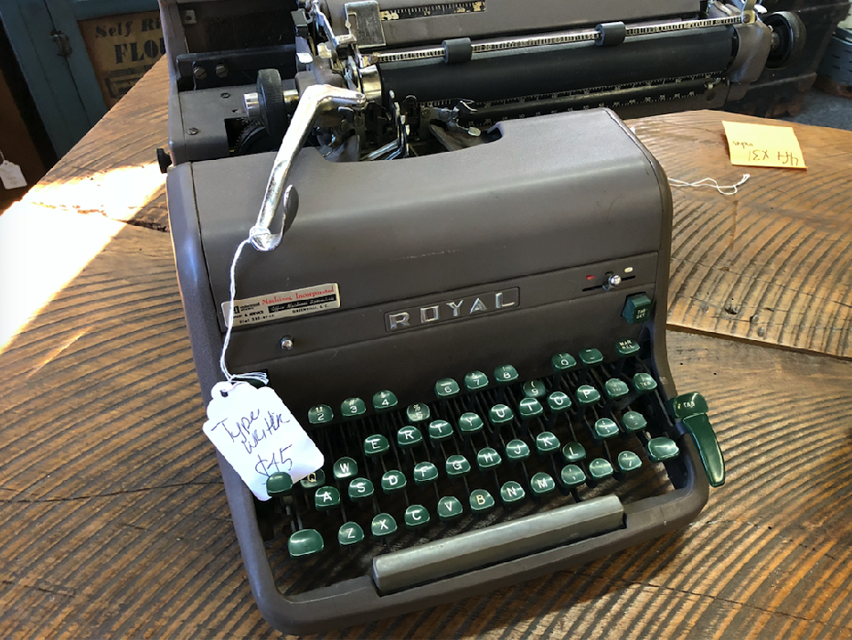 Typewriter for $45 at Route 276 Cool Crap.