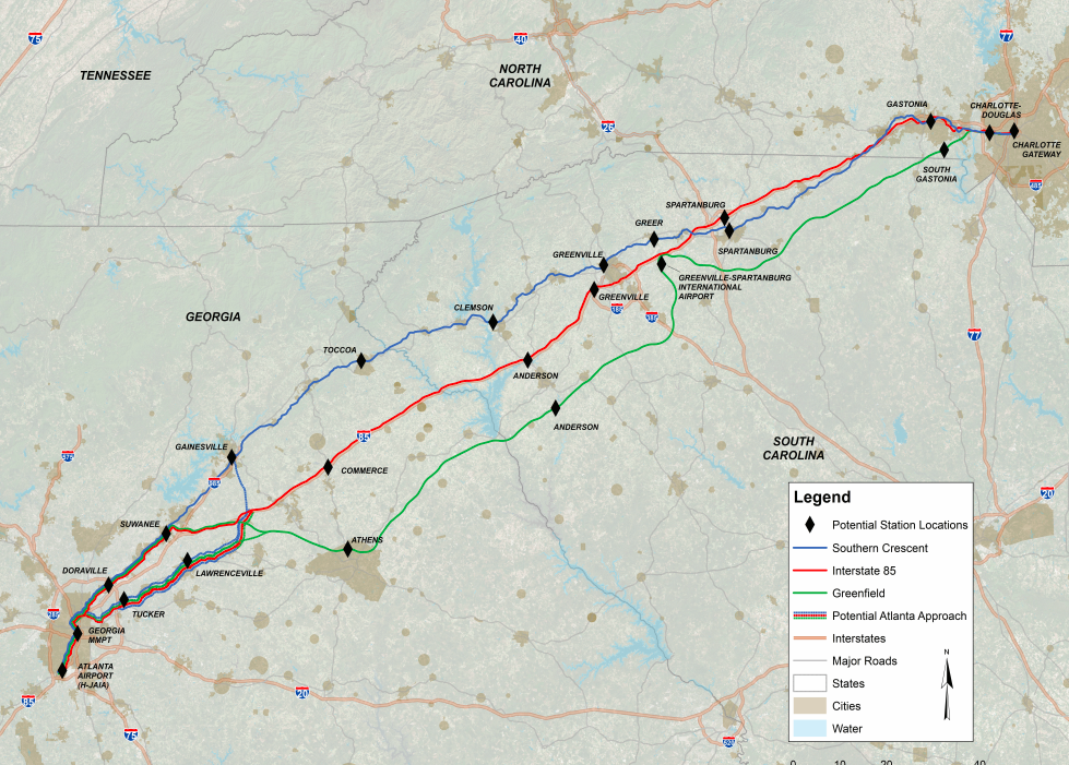 Proposed high-speed rail routes