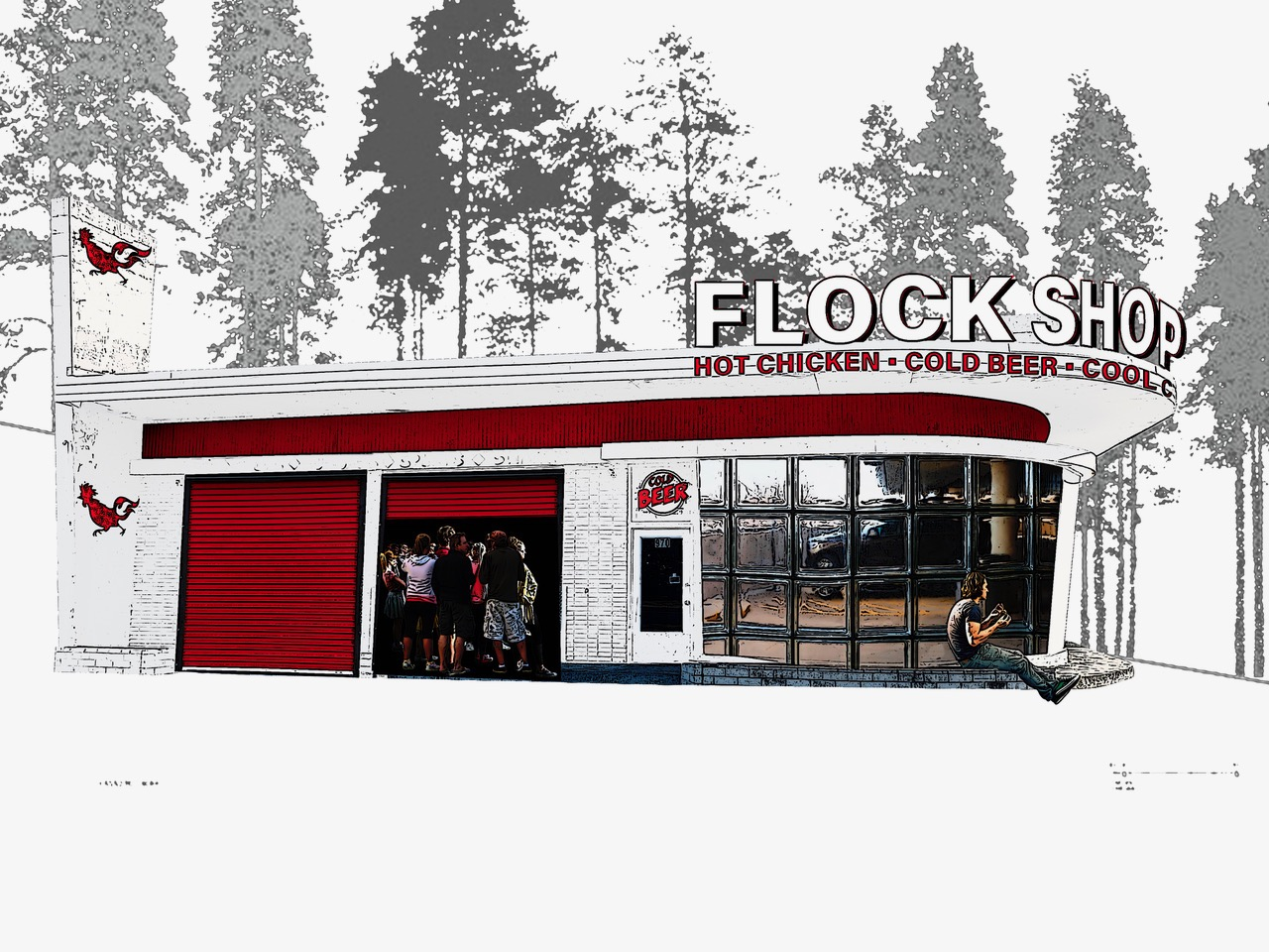 Spartanburg Flock Shop Rendering