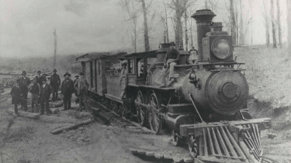 Old photo of the Swamp Rabbit Train