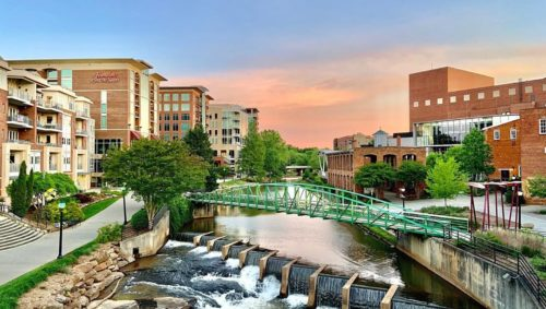 Reedy River in downtown Greenville, SC