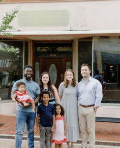 The Kang and Godwin families | Photo provided by Greer Development Corporation