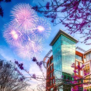 Fireworks in downtown Greenville