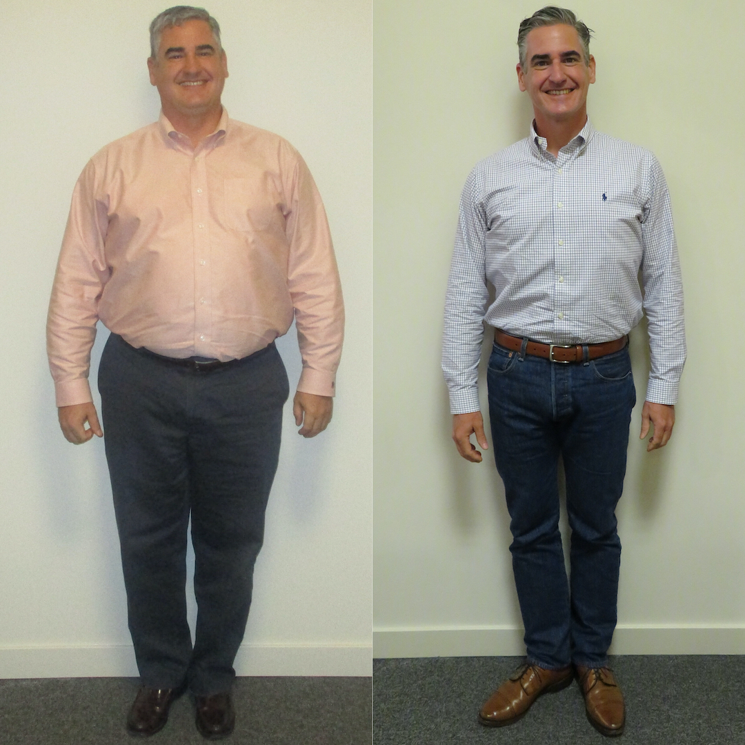 Before-and-after of client Jason