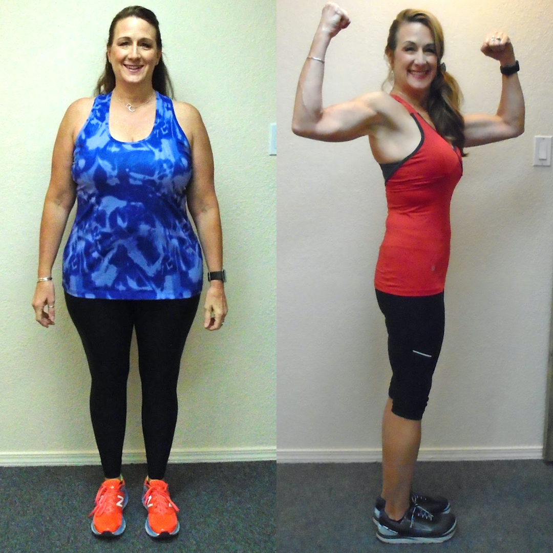 Before-and-after of client Lauren