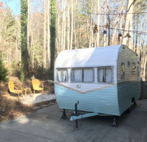 Lucy the vintage camper   Photo via Airbnb
