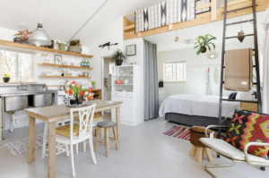 Eclectic + Rustic? Yes.   Photo via Airbnb