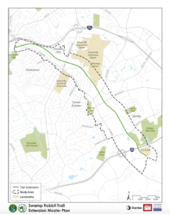 Planned Prisma Health Swamp Rabbit Trail extension | Map via the City of Greenville