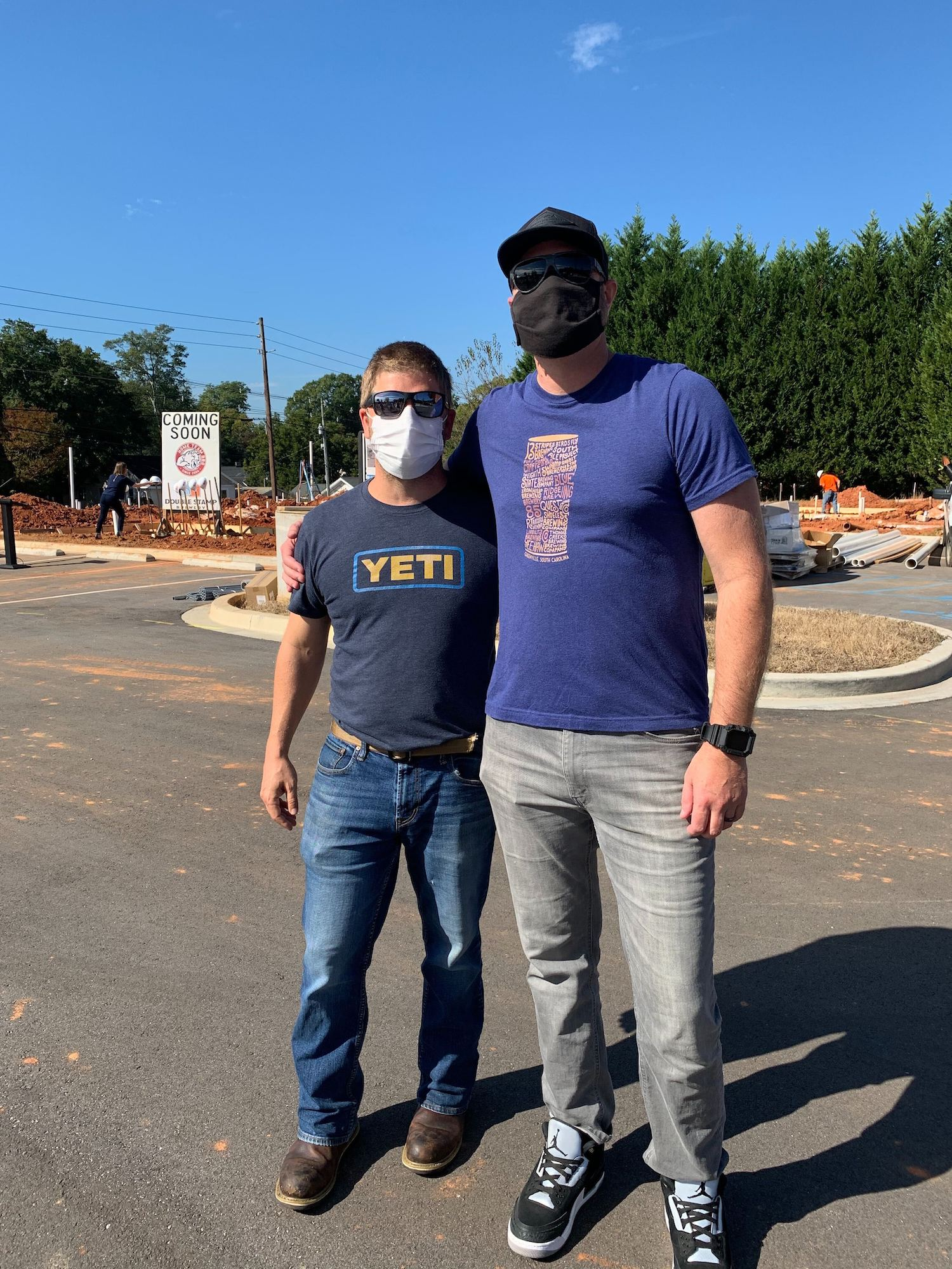 At left, Aaron Siegel (owner of Home Team BBQ) + at right, Nate Tomforde (owner of Double Stamp Brewery) | Photo by GVLtoday team