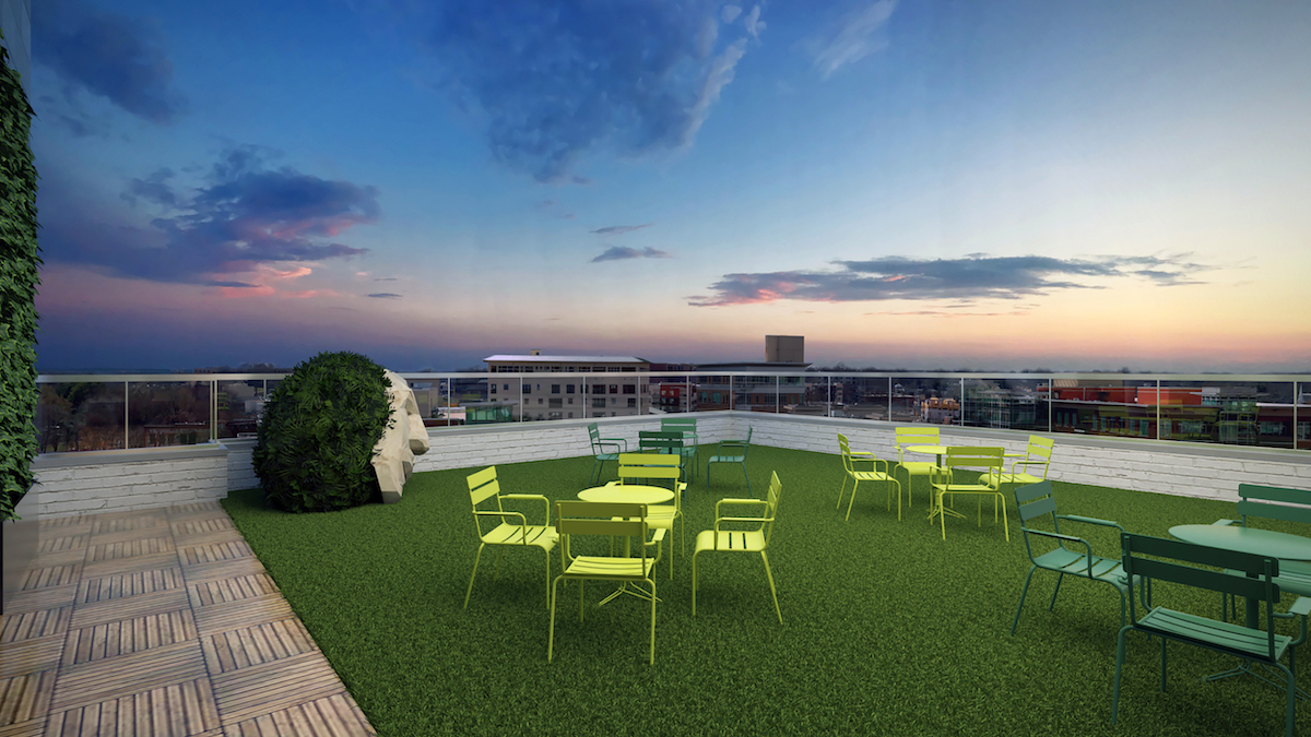 Rendering of the Secret Cocktail Garden | Courtesy of Auro Hotels