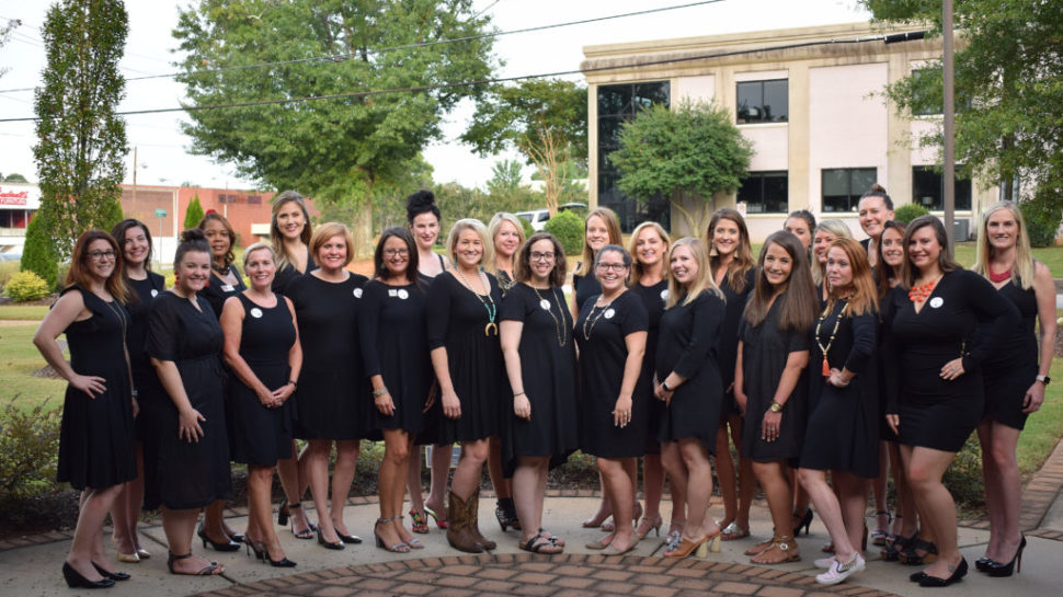 Little Black Dress Initiative (LBDI) participants from a previous year's event | Photo provided by Junior League of Greenville