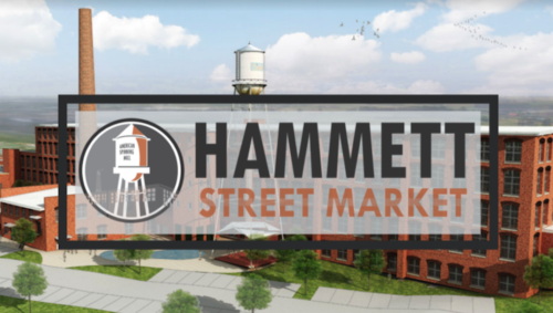 Rendering + logo of Hammett Street Market courtesy of SVN | BlackStream
