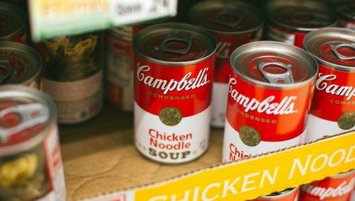 "Canned goods like soup are needed for the ""Thankful Thursday"" food drive 
