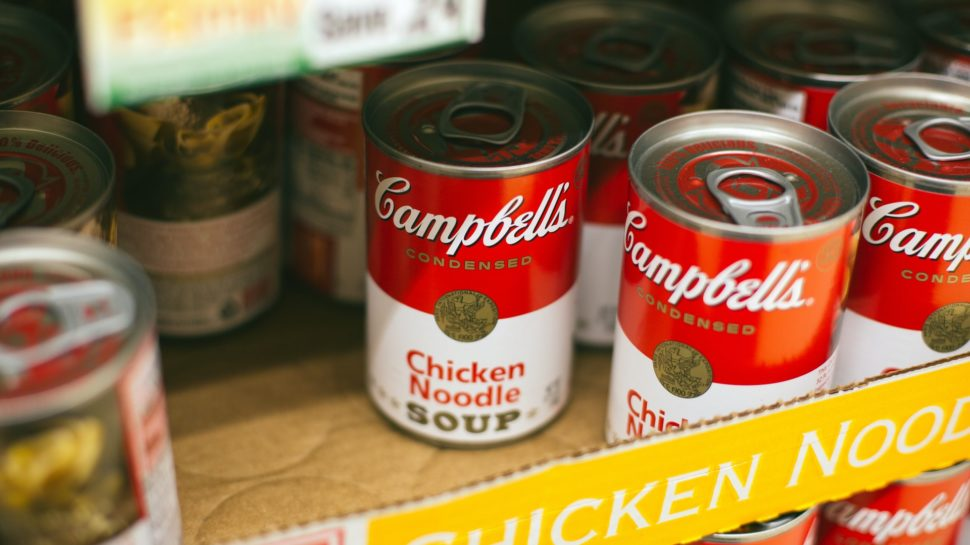 """Canned goods like soup are needed for the """"Thankful Thursday"""" food drive 