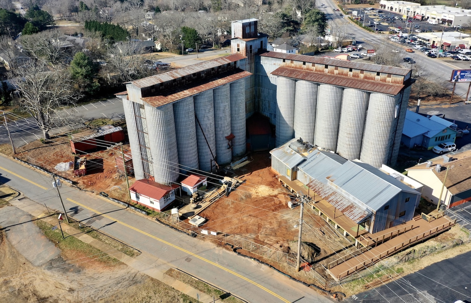 Easley Silos | Aerial photo by Jacob Sharp