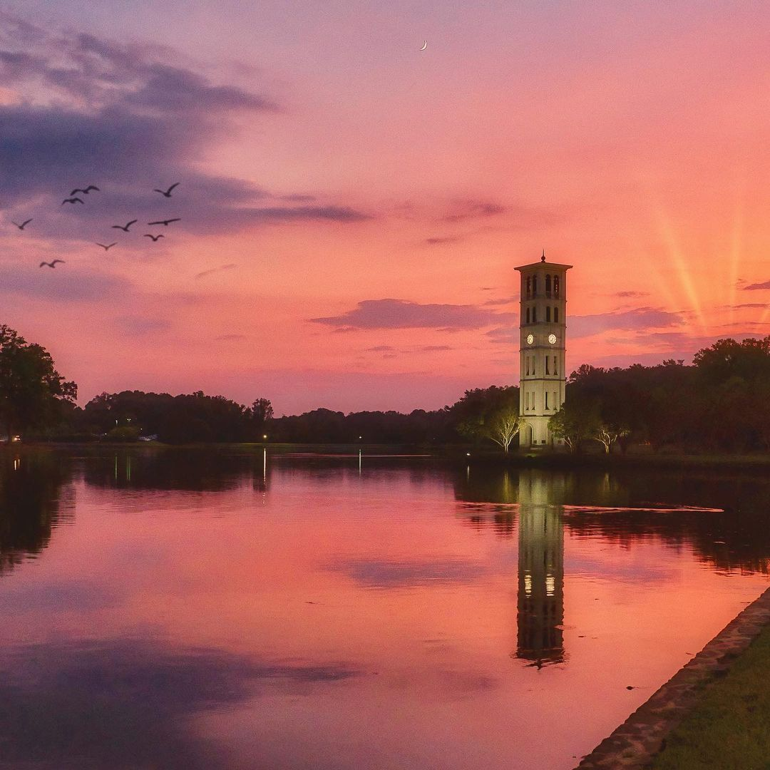 Dreaming of the days when we can see the Furman University Bell Tower again   Photo by @james_simpson_photography