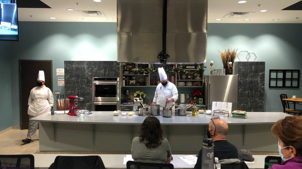 Chef Bill working on a sauce | Photo by the GVLtoday team