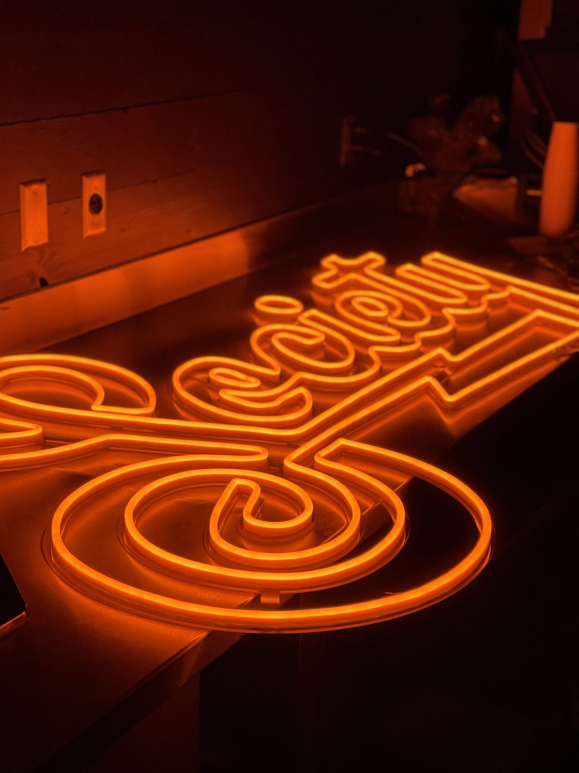 Neon sign for SOCIETY