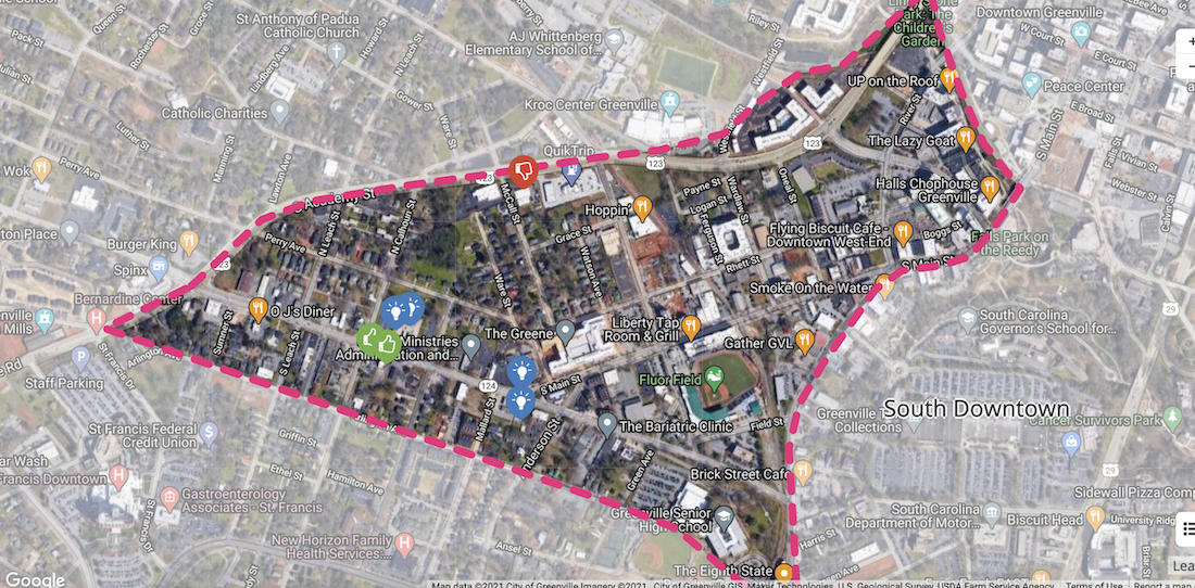 Map of West End small area plan