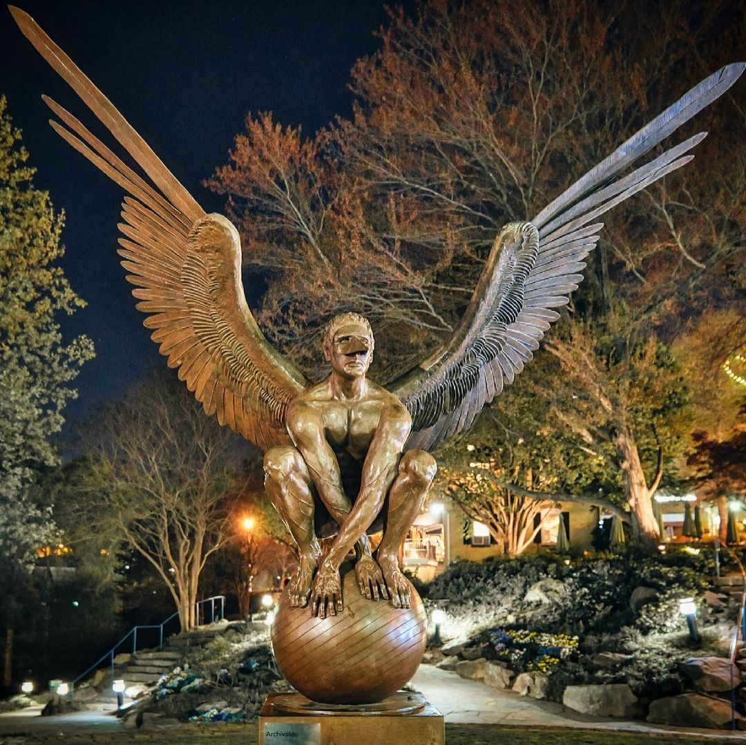 One of nine Wings of City sculptures | Photo by @james_simpson_photography