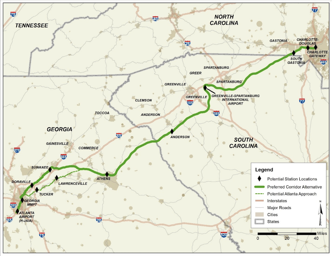 Map of proposed Greenfield Corridor   Image via Georgia Department of Transportation