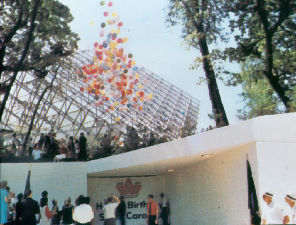 Tetron structure on Opening Day in 1970   Photo provided by Roper Mountain Science Center
